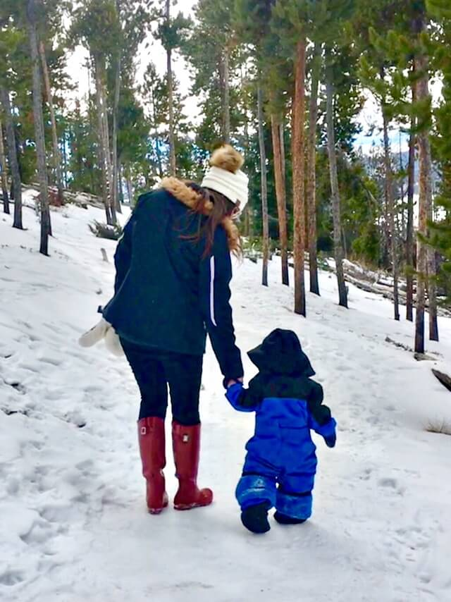 Colorado Winter Vacation with a baby