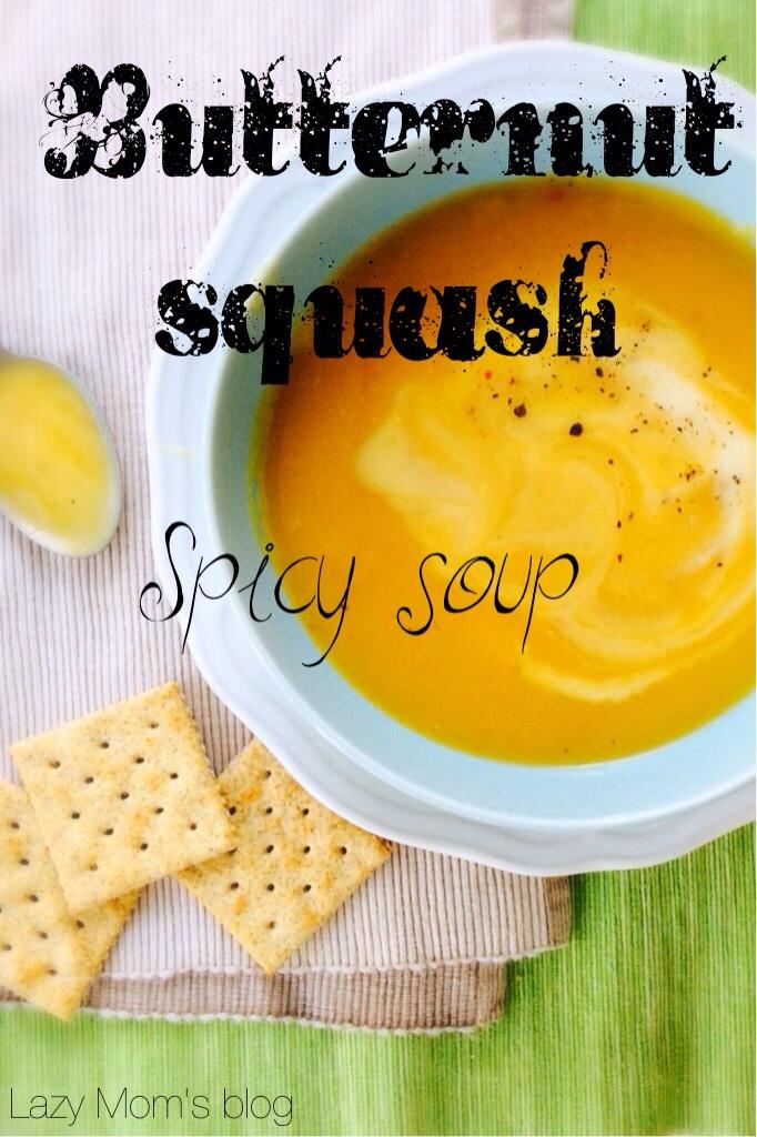 Spicy Butternut squash soup
