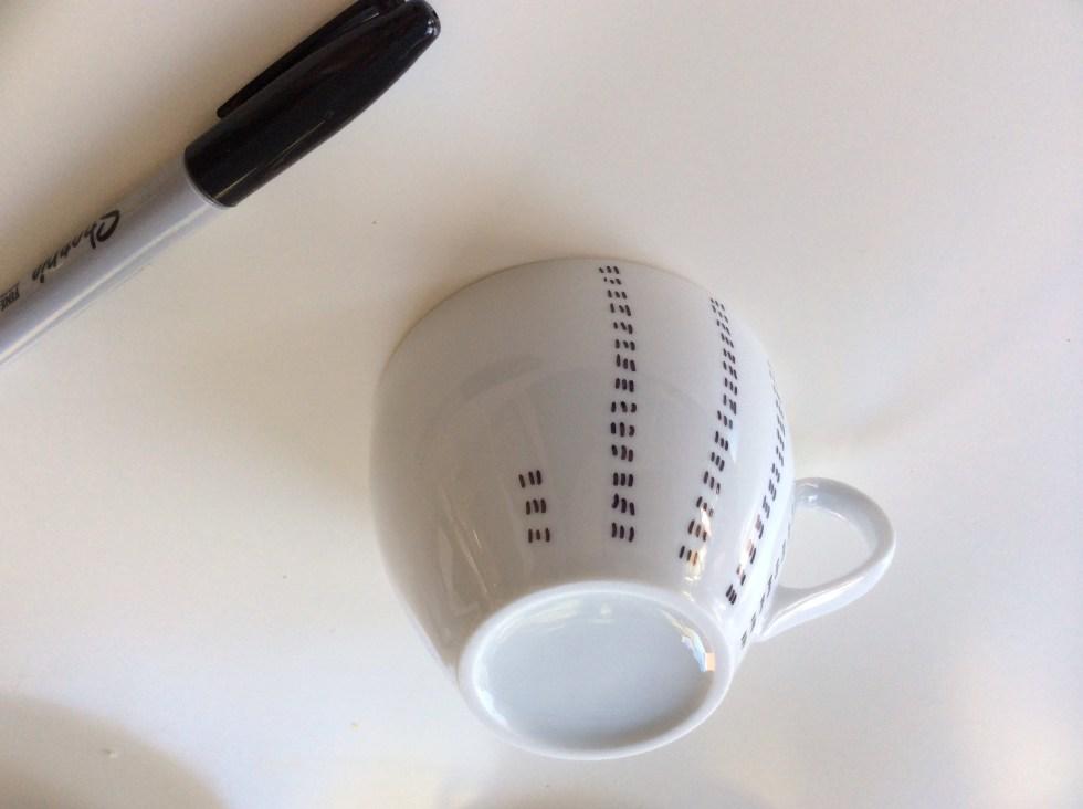 Sharpie painted tea