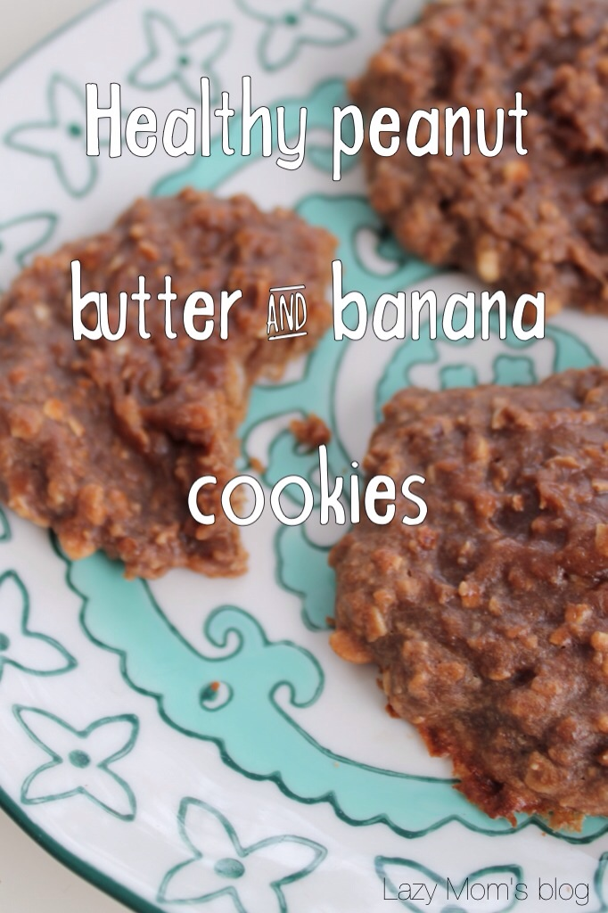 Healthy peanut butter & banana cookies