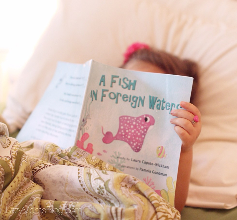 """ A fish in foreign waters"" a book for bilingual kids"