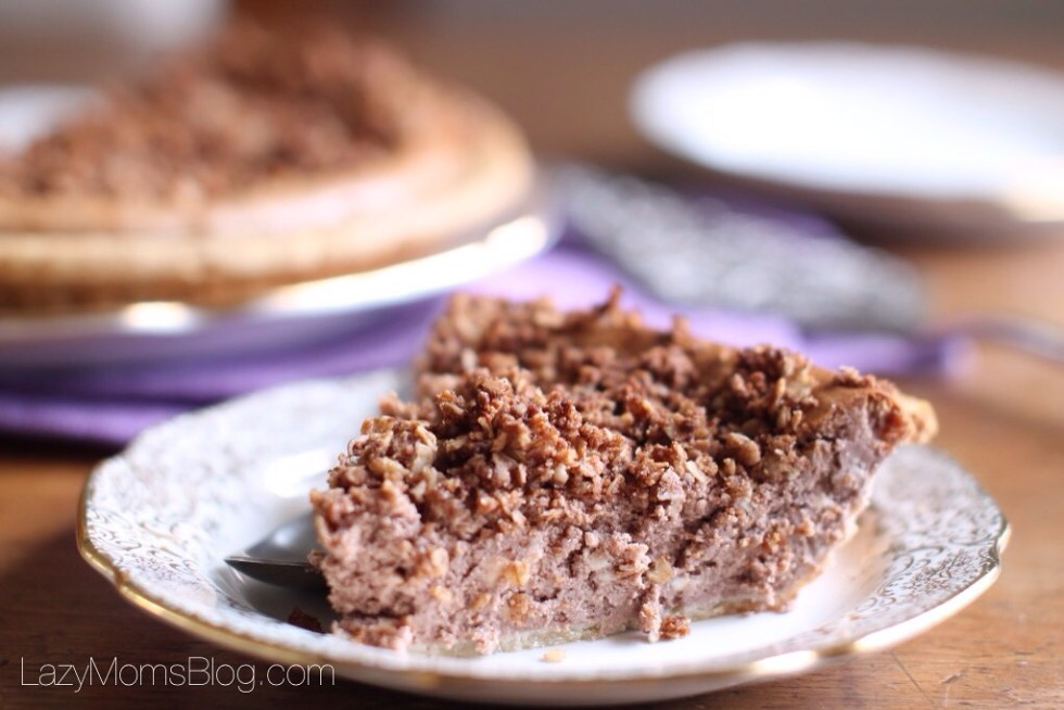 Chocolate cheesecake crumble