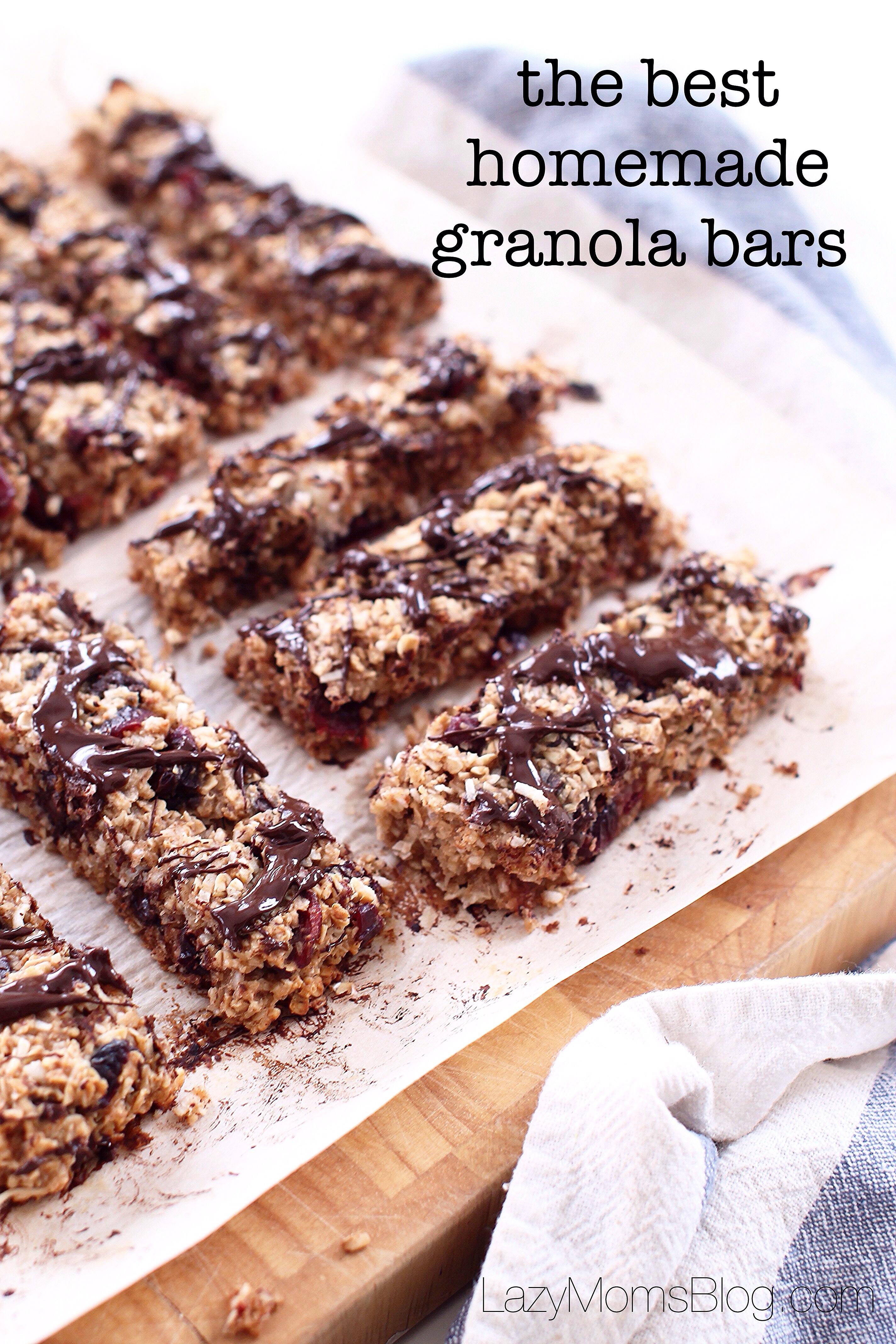 The best homemade granola bars - Lazy Mom's blog