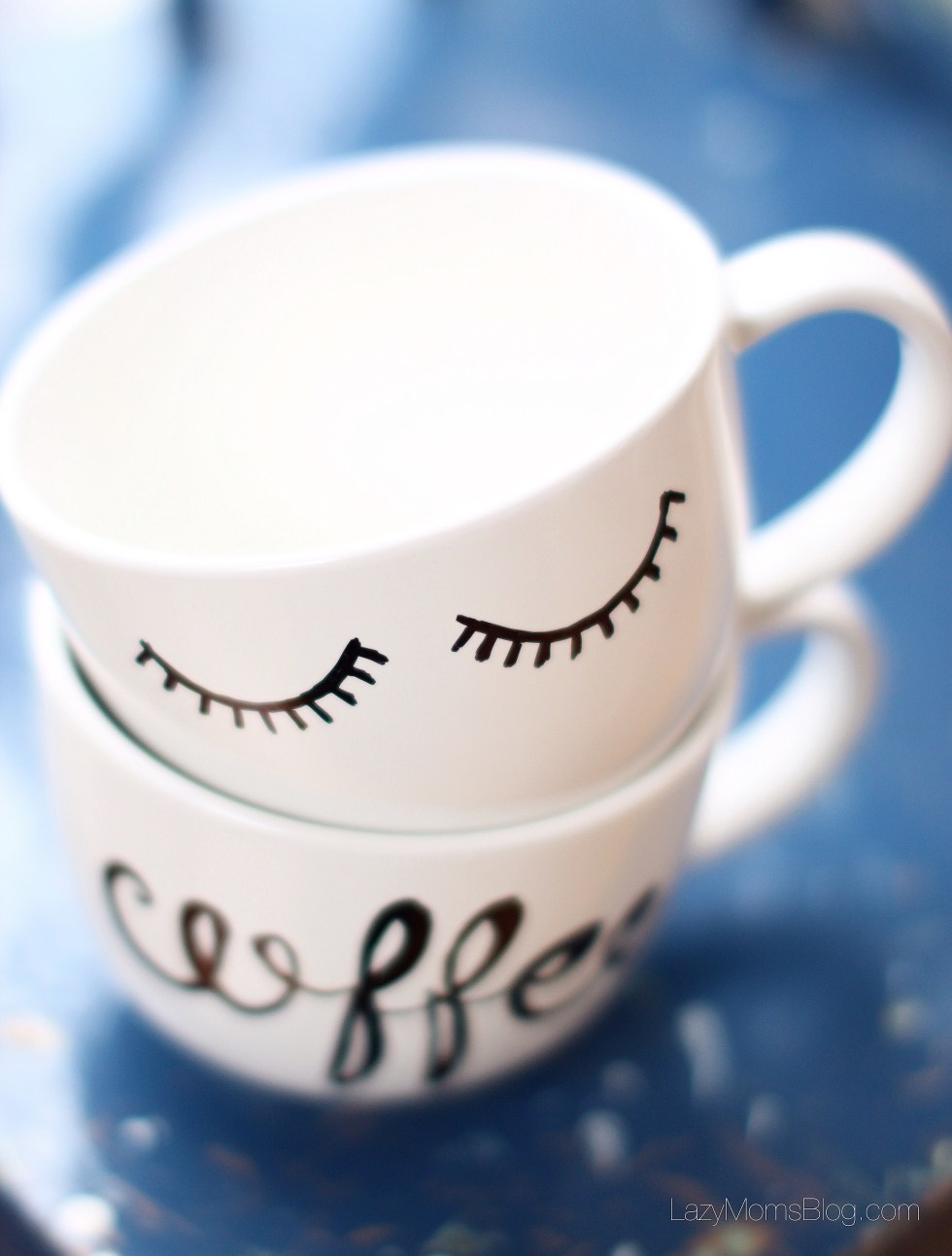 easy calligraphy style diy coffee mug