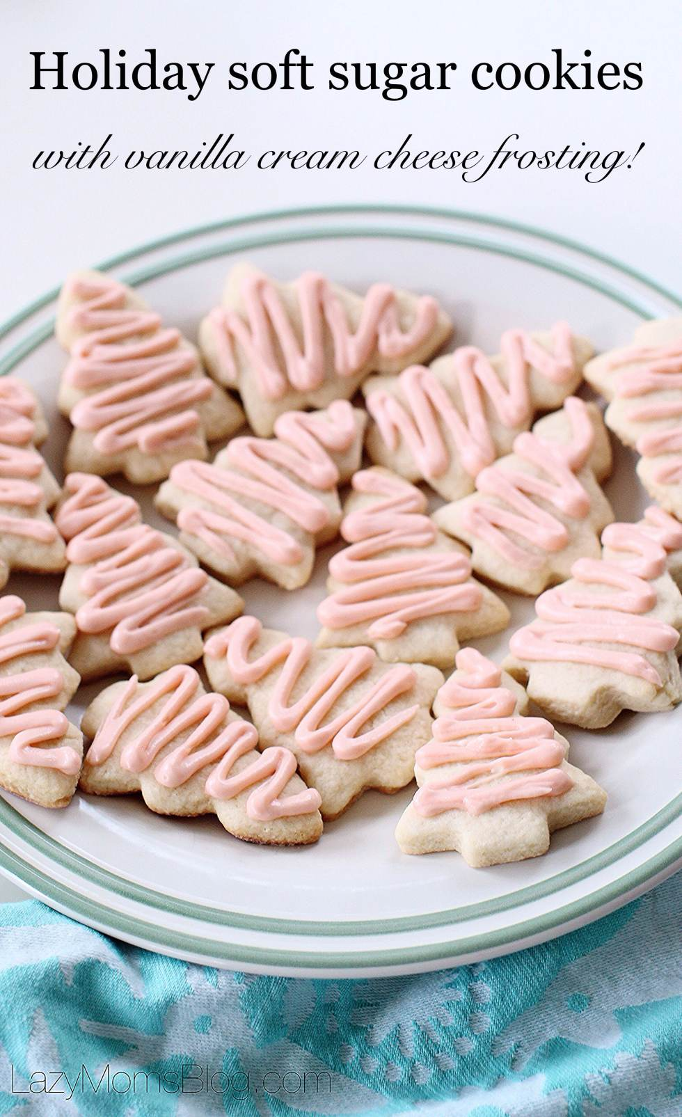 Easy and puffy soft sugar cookies recipe , so delicious and uncomplicated!  And once frosted with this vanilla cream cheese frosting, they simply melt  in your mouth!