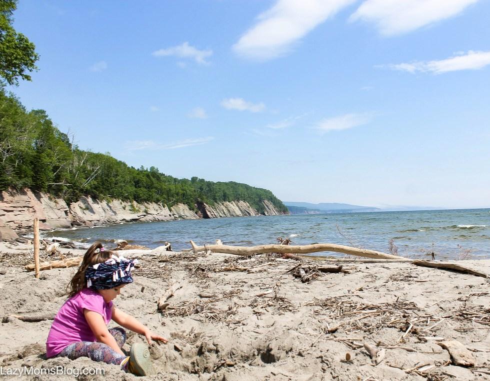 beach with kids