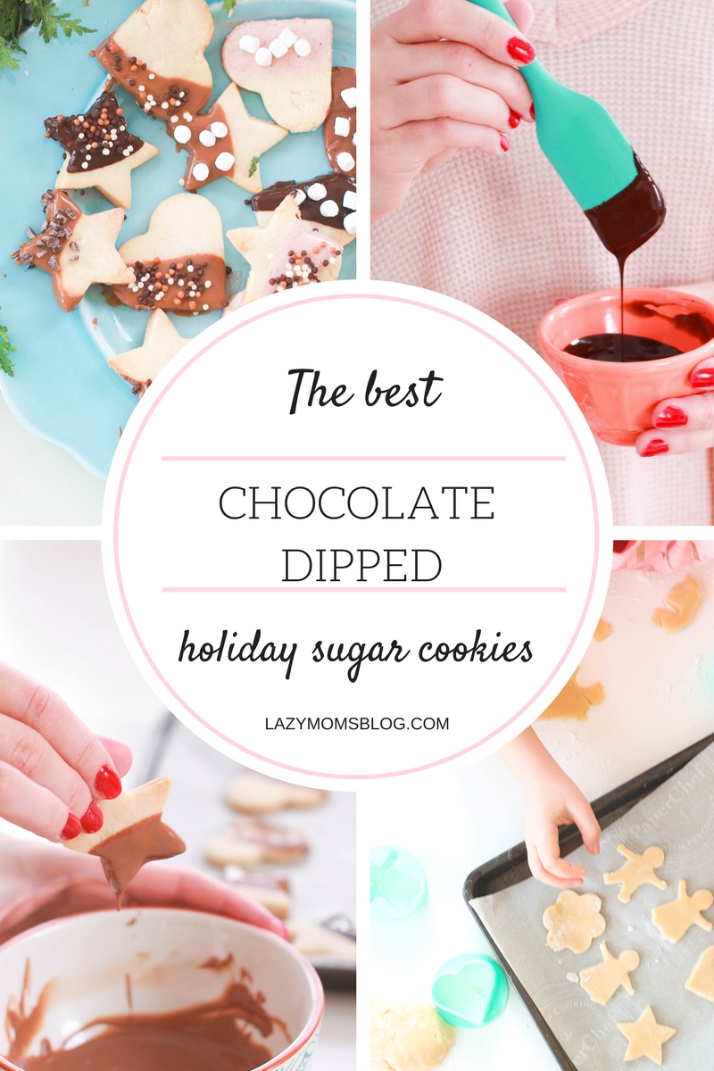 Chocolate dipped sugar cookies