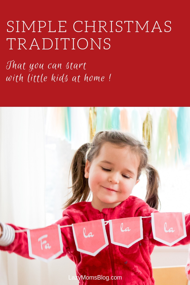 SIMPLE CHRISTMAS TRADITIONS that you can realy start with young kids- and a free banner printable