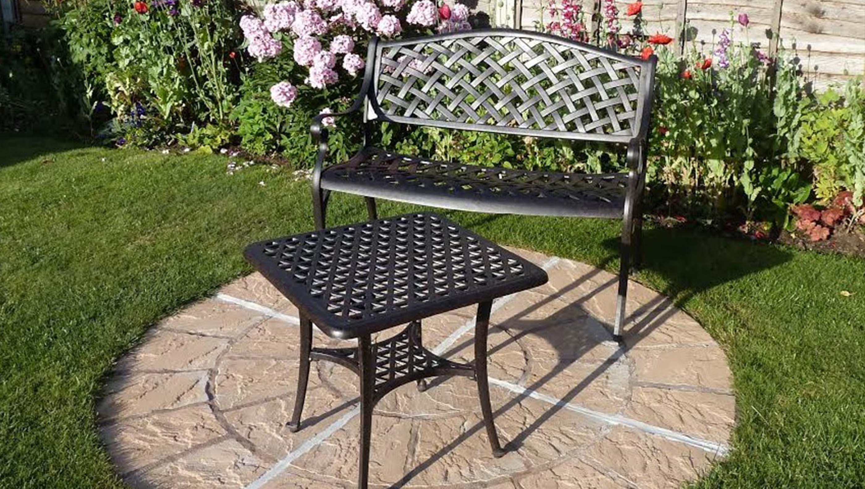 how to restore vintage iron garden