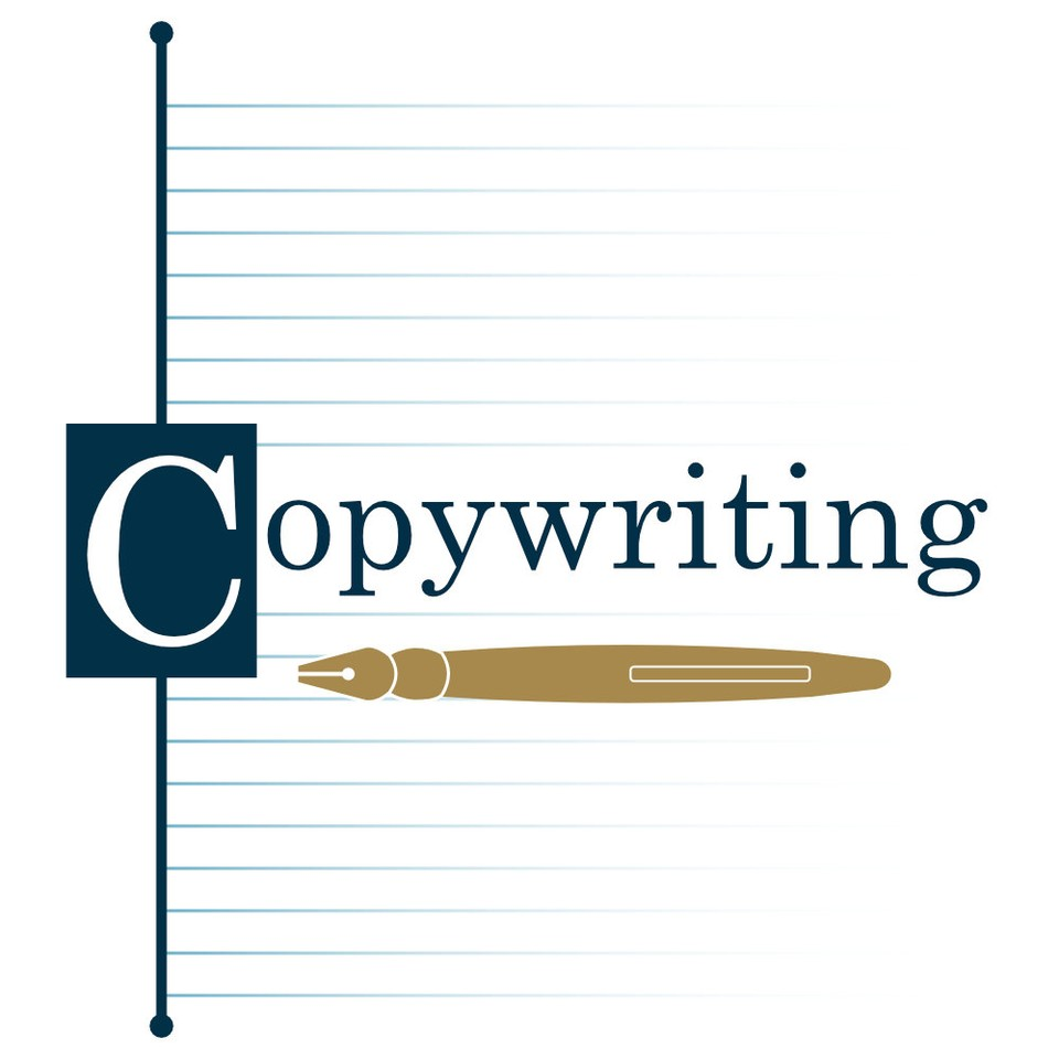 Graphic illustrating our copywriting services - pen on paper