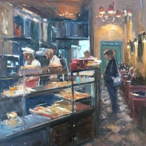 Demonstration of Interior Oil Painting By Roger Dellar