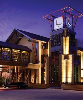 LAuberge Casino Hotel Baton Rouge entrance at night