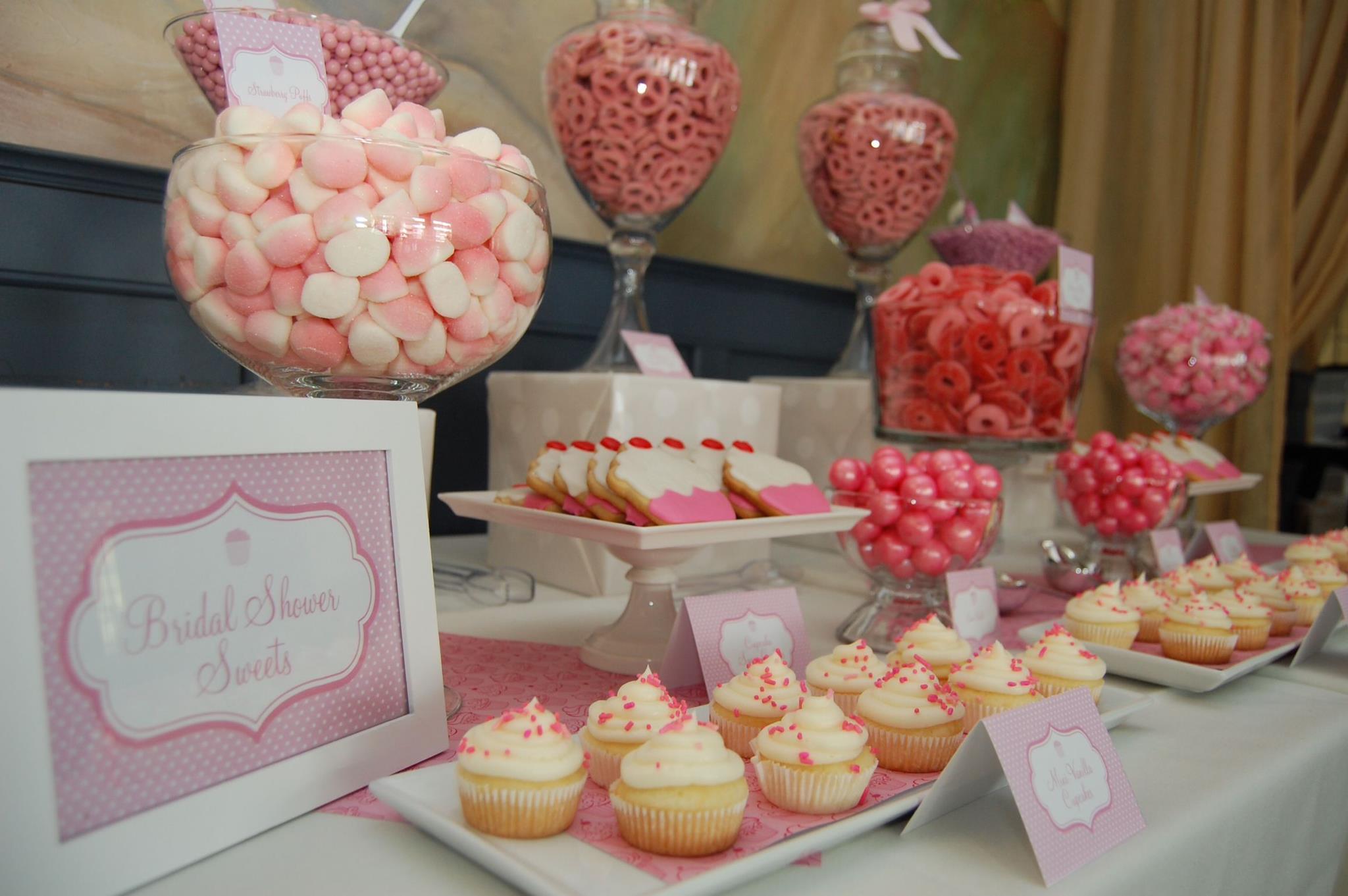 Cupcake Themed Bridal Shower Candy Buffet Blog