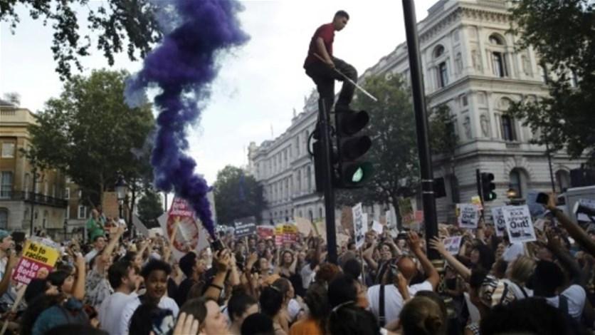 تظاهرة في وسط لندن ضد بوريس جونسون