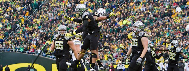 Oregon Ducks Touchdown Bump