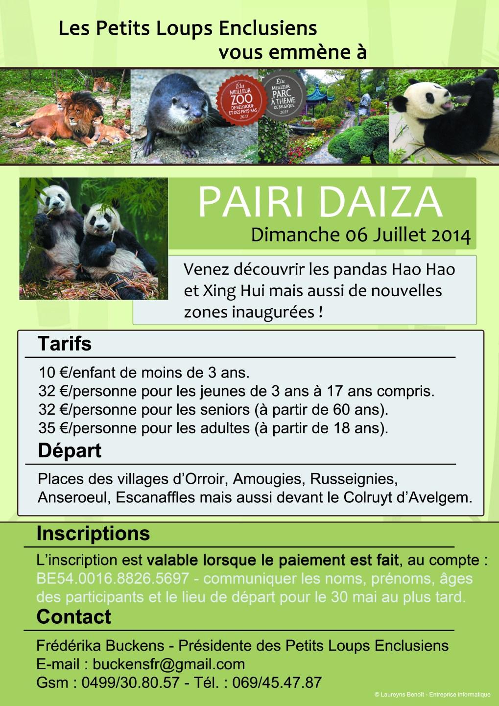 Voyage au parc de Pairi Daiza