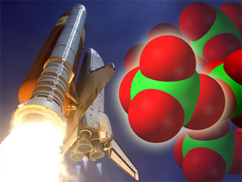 Perchlorate is a chemical found in rocket fuel; is harmful to life.