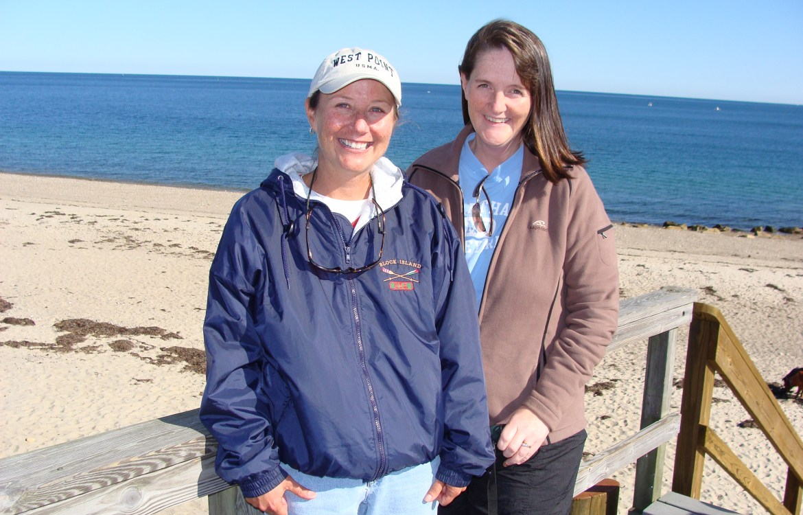 better in pairs Kathy and I at the beach
