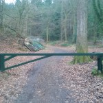 Entrance barrier after painting