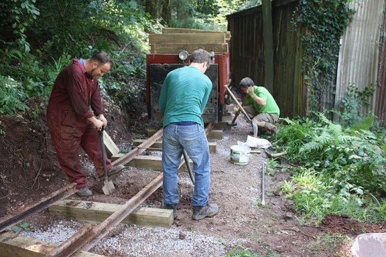 Track laying on the new siding
