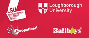 LSU, Loughborough University, Ballboys and Coppafeel! logos.