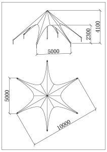 schéma star tente 10m