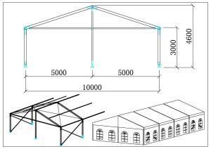 schéma chapiteaux 10 mètres b