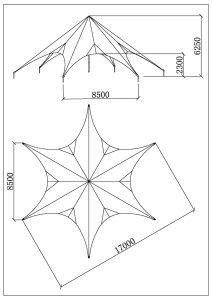 schéma star tente 17m