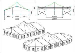 schéma chapiteaux partie pic 15 mètres