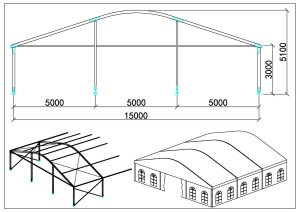 schéma chapiteaux dôme 15m