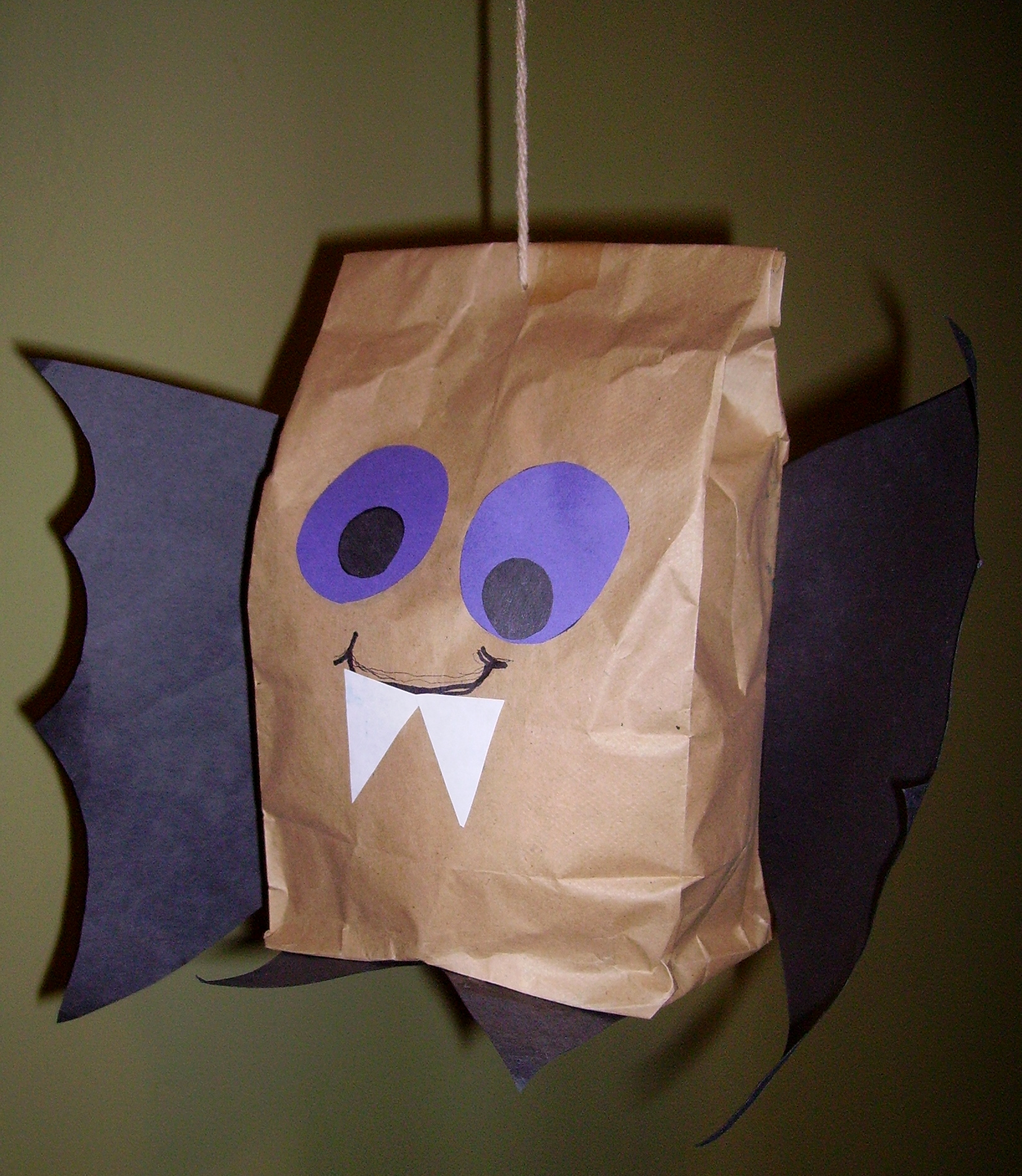 arts and craft ideas for halloween brown paper bag bat amp glitter 7426