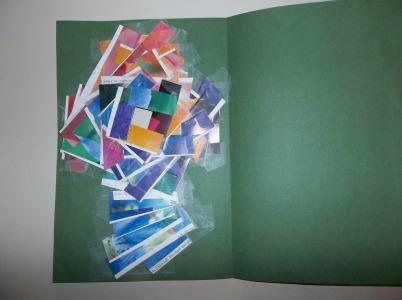 iris fold cross taped strips