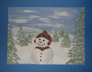 snowman-finished with border