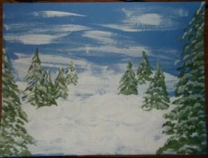 snowman-paint trees1