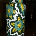 dot painted jar. 9c