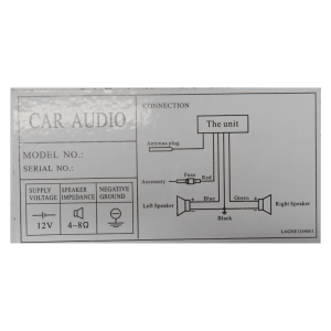 XXX Car Audio instruction