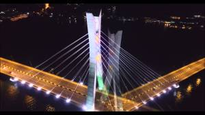 Lekki-Ikoyi bridge at night