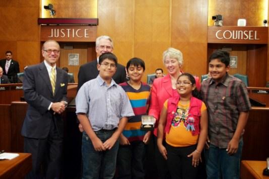 Sewa International Houston honored at City Hall (2)