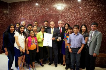 Sewa International Houston honored at City Hall (3)