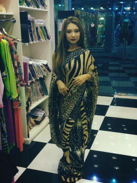 Houston Based Designer Shehla Rana wearing Ambreen Amin
