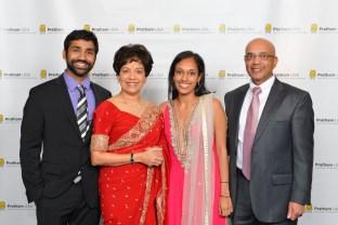 The Goradia Family, Kevin, Marie, Sapphira and Vijay