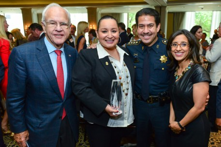 The Honorable Oliver Pennington, Officer Ann Carrizales, Sheriff Adrian Garcia, and Rania Mankarious