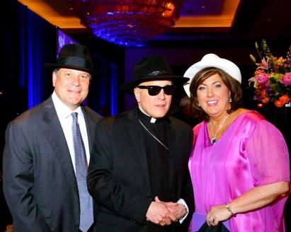Anne and David Dunlap and His Eminence Daniel Cardinal DiNardo - Gala Co-Chair and Cardinal
