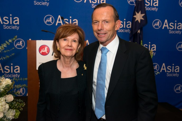 The Honorable Nana Booker, Honorary Ambassador to Australia, Prime Minister Tony Abbott
