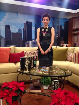 Bela Thacker on the sets of KPRC Interview