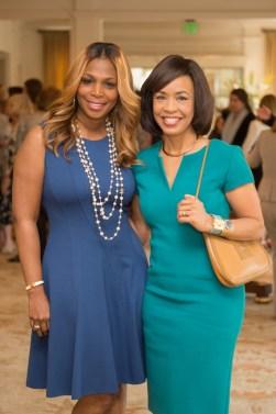 Nicole West and Mistress of Ceremony Gina Gaston