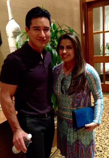 Mario Lopez with Ruchi Mukherjee