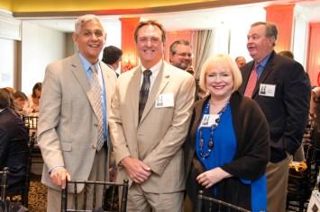 Council Member Robert Gallegos, Chip Coross and Leila Perrin