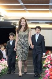 Runsi Sen with her sons