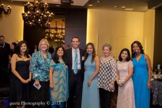 left to right, Dr. Aparna Kamat, Betty White, Juuhi Ahuja, Mike Beck, Runsi Sen (Founder), Sharon Krinsky & Melinda Spaulding
